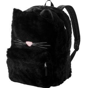 Handbags - New Furry Black Kitty Cat Backpack School Bag